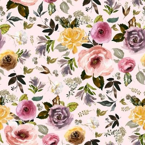 "8"" Cambridge Florals Light Blush"