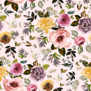 "36"" Cambridge Florals Light Blush"