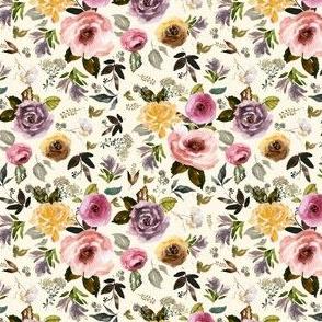 """4"""" Cambridge Florals Light Tan"""