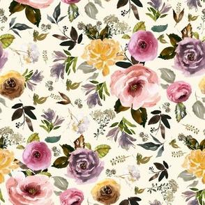 """8"""" Cambridge Florals Light Tan"""