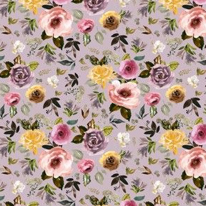 "4"" Cambridge Florals Mauve"