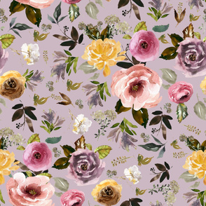 "36"" Cambridge Florals Mauve"