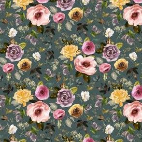 """4"""" Cambridge Florals Royal Green"""