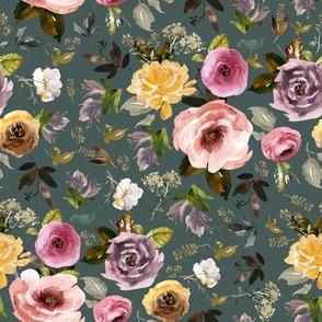 """8"""" Cambridge Florals Royal Green"""