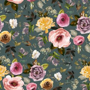 """36"""" Cambridge Florals Royal Green"""