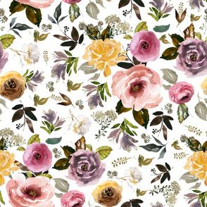 "36"" Cambridge Florals White"