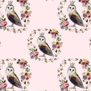 "4"" Cambridge Owl Light Blush"