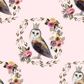 "8"" Cambridge Owl Light Blush"