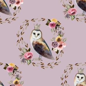 """8"""" Cambridge Owl Light Mauve"""