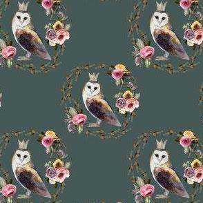 """4"""" Cambridge Owl Royal Green"""