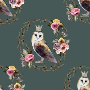 """8"""" Cambridge Owl Royal Green"""