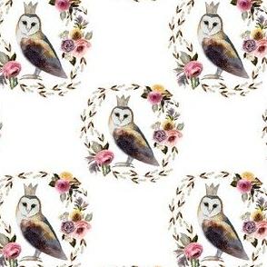"""4"""" Cambridge Owl White"""