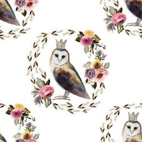 """8"""" Cambridge Owl White"""