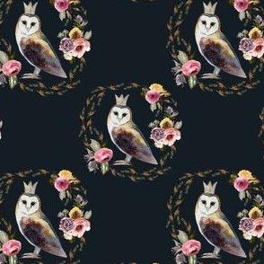 """4"""" Cambridge Owl Winter Royal Blue"""