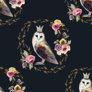 """8"""" Cambridge Owl Winter Royal Blue"""