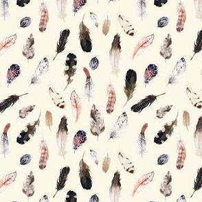 "4"" Winter Boho Feathers Light Tan"