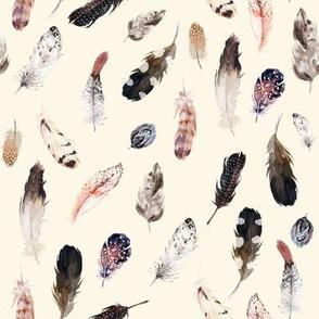 "8"" Winter Boho Feathers Light Tan"