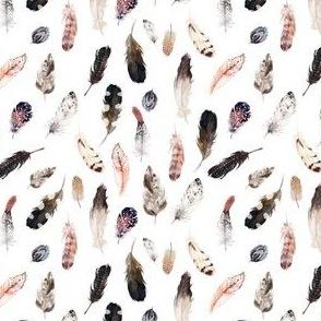 "4"" Winter Boho Feathers White"
