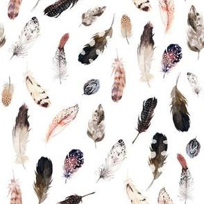 "8"" Winter Boho Feathers White"