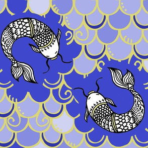 Persevere /Blue -gold Chinoiserie  lg