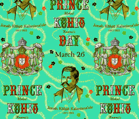 Prince Kūhiō Day 1a fabric by muhlenkott on Spoonflower - custom fabric