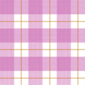 Pink and Orange Double Buffalo Plaid
