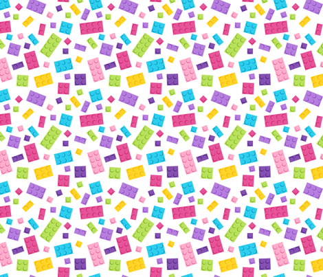 Building Brick Scatter Pastels fabric by designedbygeeks on Spoonflower - custom fabric