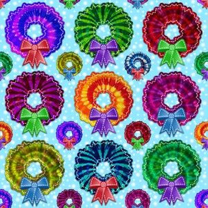 Tie Dye Wreaths with Snow