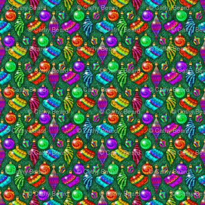 Tie Dye Ornaments