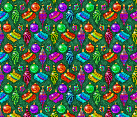 Tie Dye Ornaments fabric by just_meewowy_design on Spoonflower - custom fabric