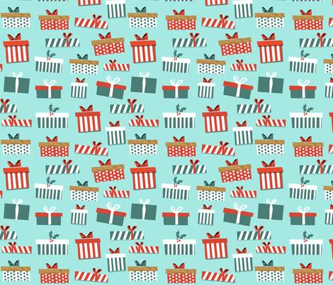 Christmas Gift Wrap Design.Christmas Presents Fabric Christmas Fabric Holiday Fabric