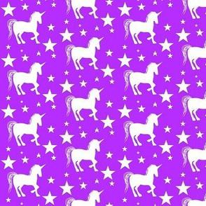 sparkle star unicorn / purple