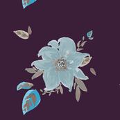 DAVK designs-Aqua watercolor flower Pattern