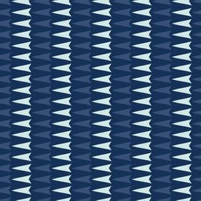 Geometric Triangle Arrrow Stripes Hand Drawn Indigo Blue