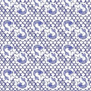 Persevere /Blue -small  Toile