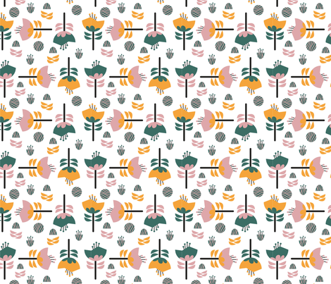 Flora-3 fabric by chiqdesign on Spoonflower - custom fabric