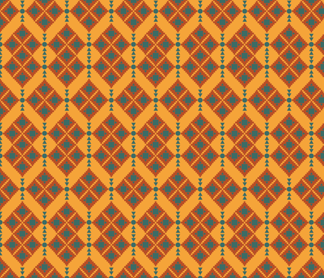 Kilim 2A fabric by chiqdesign on Spoonflower - custom fabric