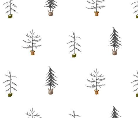 Tree Print - Eclectic Minimalism fabric by genuinely_ginger on Spoonflower - custom fabric