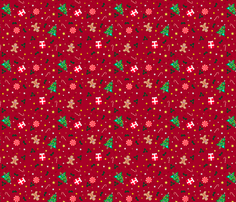 Christmas Holidays Red xsmall fabric by sssowers on Spoonflower - custom fabric