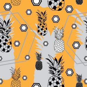 pineapple Festival-Fruit Delight. Seamless Repeat Pattern Background