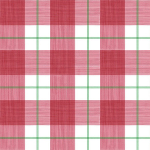 Double Plaid in Red and Green