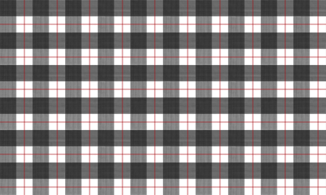 Double Buffalo Plaid in Black and Red fabric by danika_herrick on Spoonflower - custom fabric