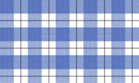 Double Buffalo Plaid in Blue and Black fabric by danika_herrick on Spoonflower - custom fabric