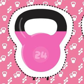 Kettlebell plushie pink