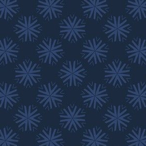 Winter Snow Texture Drawn Starry Snowflake