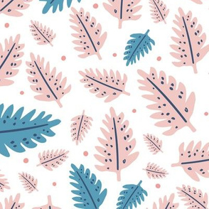 Pink and Blue Leaves