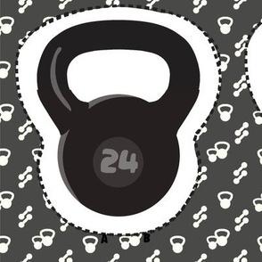 Kettlebell plushie black