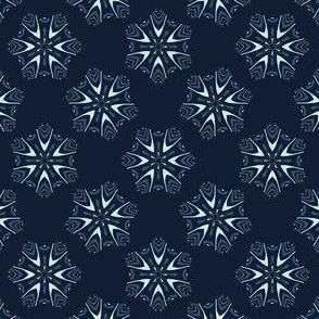 Glowing Stars Texture Drawn Starry Ornament