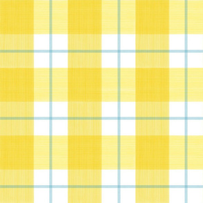Double Buffalo Plaid in Yellow and Turquoise