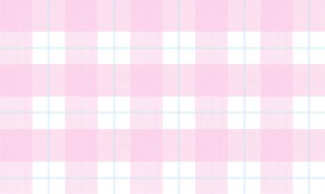 Double Buffalo Plaid in pale Pink and Aqua fabric by danika_herrick on Spoonflower - custom fabric